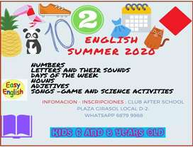 ENGLISH SUMMER FOR KIDS FOR 6 AND 8 YEARS OLD