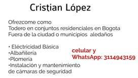 Ofrezco mis servicios  de todero en Bogotá o municipios aledaños