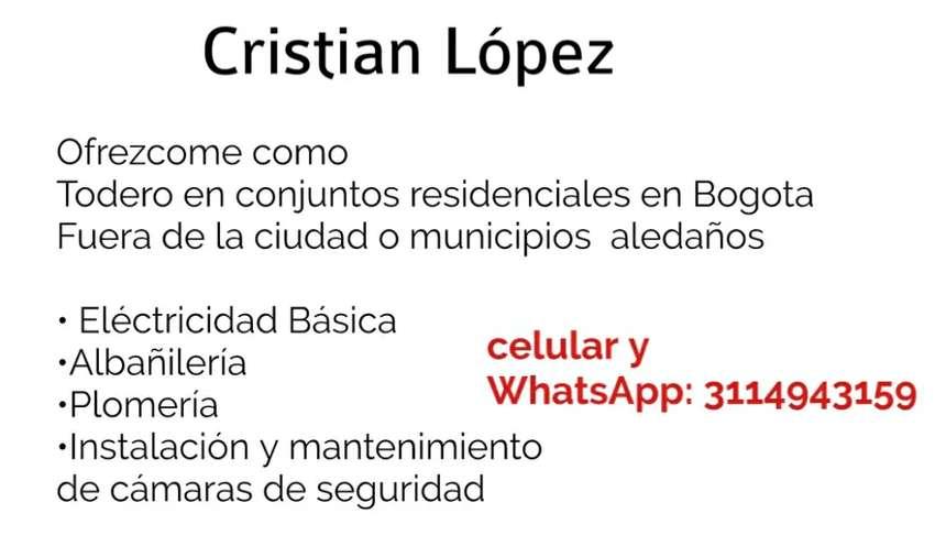 Ofrezco mis servicios  de todero en Bogotá o municipios aledaños 0