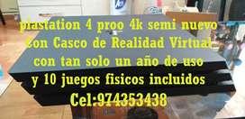 VENDO PLAYSTATION 4 PROO 4K CON CASO VR