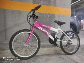Bicicleta todo terreno niña