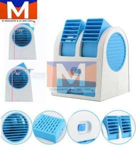 Mini Ventilador Aire Acondicionado 2 Salidas Usb