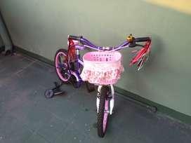 Bicicleta Niña Rodado 16 Bmx Danger Bike Melody Full