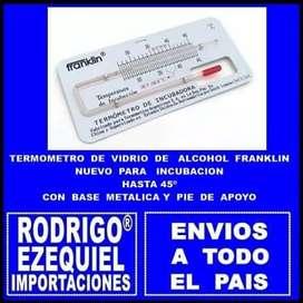 TERMOMETROS FRANKLIN DE ALCOHOL NUEVOS PARA INCUBACION