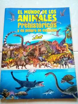 Álbum Jet el mundo de los animales prehistóricos y en peligro de extinción