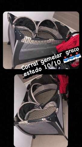 Corral gemelar marca Graco