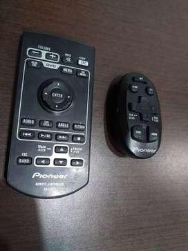 controles remoto equipo sonido pioneer en vehiculo