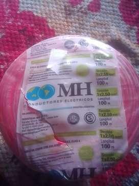 Vendo rollos de 100 metros de ca bles marca MH con aislación de PVC clase 4