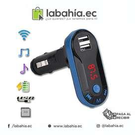 Transmisor Fm Bluetooth Emulador Mp3 Usb Cargador Celular