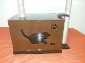 Casa para gato con Rascador
