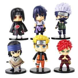 Figuras Naruto Set por 6 unidades