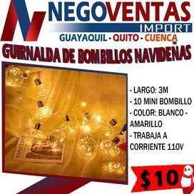 FOCOS GUIRNALDA BOMBILLOS LED NAVIDEÑO PARA DECORACION DE INTERIOR O EXTERIOR