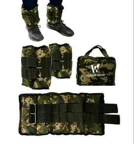 Kit 2 Pesas De Tobillo Camufladas Ajustables Para Muñecas Piernas De 4KG Con Bolso