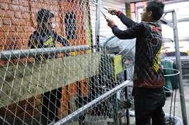 malla eslabonada galvanizada para cercas, cerramientos