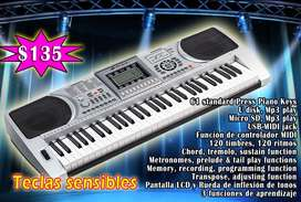 Piano con teclas sensibles y MP3