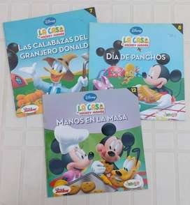 3 Libros Disney Junior La casa de Mickey Mouse