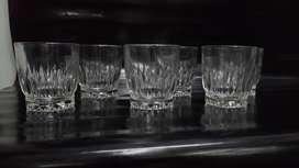 Vaso Antiguo Cristal Tallado Clasico