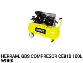 COMPRESOR  a CORREA BICILINDRICO  CE810 100L WORK  4 HP