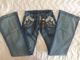 Jeans  mujer Talla 6 bota ancha Nuevo