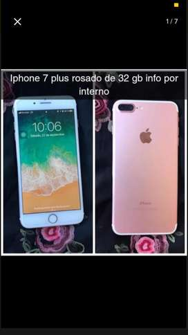Iphone 7 plus Rosado