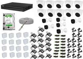 kit de 16 camaras de seguridad dahua 2 megapixeles 1080p + 1 disco de 1 tera