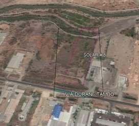 Terreno de venta Vía Durán Tambo  km 7 frente Mercado Mayorista