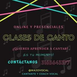 CLASES DE CANTO, LENGUAJE MUSICAL.
