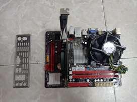 Combo board + procesador + disipador + tarjeta grafica