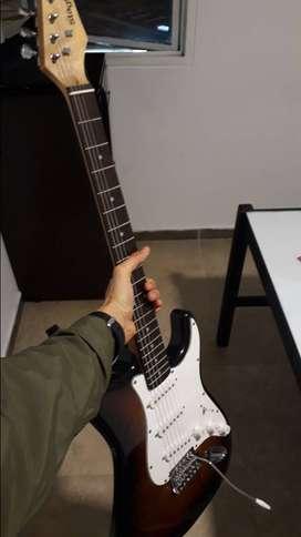 Guitarra Eléctrica Stagg s300sb como nueva + Amplificador
