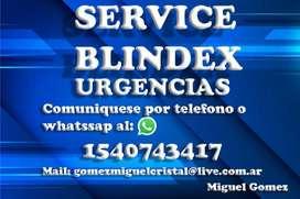 SERVICE BLINDEX - CIERRA PUERTA HIDRAULICO DE PISO FRENTES TEMPLADOS