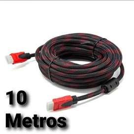 Cable HDMI 2, 5, 10 Metros y más tamaños de doble filtro mallado punta dorada nuevo