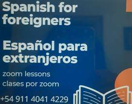 Spanish for foreigners by Zoom