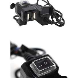 Cargador USB Para Moto Doble Puerto