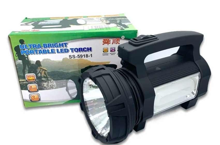 Linterna Led Portatil Ultra Brillante Iluminacion Frontal y Lateral