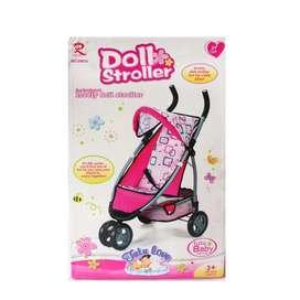 Coche paseador infantil Metálico para Niñas Nuevo!