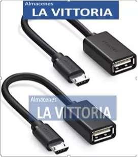 Cable OTG Micro Usb a Usb Hembra Celular Samsung Sony Nokia