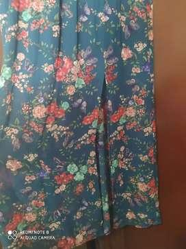 Vestido floral talla L