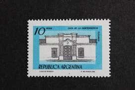 ESTAMPILLA ARGENTINA 1978, CASA DE LA INDEPENDENCIA DE TUCUMÁN, MINT