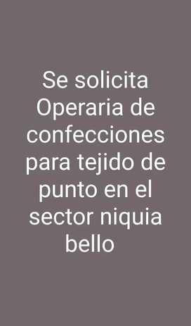 Operaria de confecciones