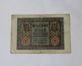 Billete alemán de 1920, 100 marcos, VG