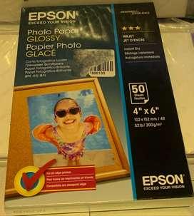 Papel Fotografico Epson Brillante 4 X 6 Pulgadas 50 Hojas S0