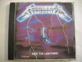 metallica ride the lightning tapas con caja b/ estado