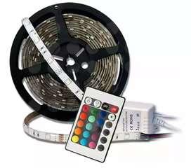 Tira de Led RGB EXTERIOR 5M con Fuente y Control Remoto