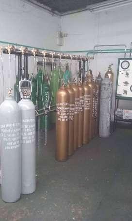 estación de llenado de gases