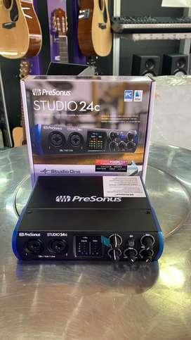 Interface presonus studio24c de 2 canales de microfono usb 3.0