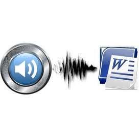 Transcripciones audios y videos
