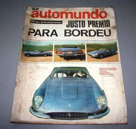 REVISTA AUTOMUNDO Nº62 DEL 13-07- 1966