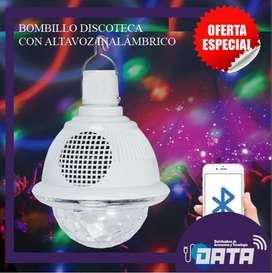BOMBILLO DISCOTECA CON BLUETOOTH 10W