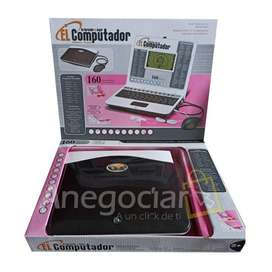 Computador Didáctico Niño y Niña 160 Funciones 2 Idiomas Oferta de Lanzamiento