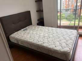 Base cama , espaldar y colchon